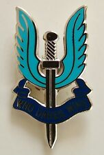 SAS SPECIAL AIR SERVICE CLASSIC HAND MADE IN UK PLATED LAPEL PIN BADGE