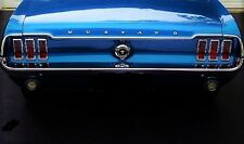 1 1967 Mustang GT Ford 18 Sport T Car Rare Vintage Auto 24 Carousel Blue Art 12