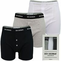Mens Boxer Short/ Trunks by Ben Sherman '3 Pack' Button Fly