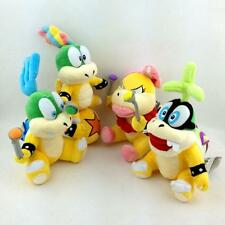 Super Mario Bros Koopalings Lemmy Larry Iggy Wendy O. Koopa Plush Toy 4pcs/lot