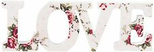 Small Antoinette Floral Prints Wooden LOVE Plaque Letters Shabby Sass and Belle