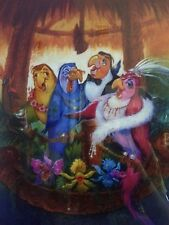 "12x18"" Tokyo Disneyland Enchanted Tiki room now playing get the fever poster"