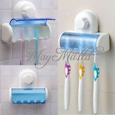 Plastic 5 Set Toothbrush Spinbrush Holder Suction Stand Bathroom Accessory MI