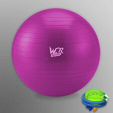 Fitness Exercise Swiss Gym Fit Yoga Core Ball 65CM Abdominal Back Workout Pink