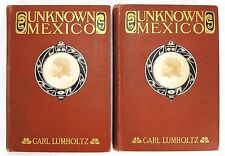 1902 UNKNOWN MEXICO A Record Of Five Years' EXPLORATION Lumholtz 2 VOLS 1ST RARE