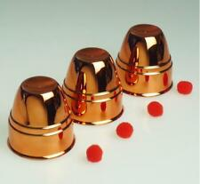Plastic Material With Copper - Three Cups And Three Balls (Large),magic trick