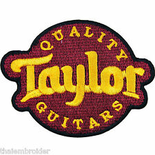 Taylor Acoustic Guitar Bass Rock Punk Heavy Metal Jazz Iron on Patches #E010