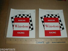 vintage original Winston Racing NASCAR LARGE Contingency race car decal stickers