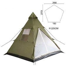 MFH Tipi 3 Personen Indianer Outdoor Zelt mit Mittelmast wasserdicher PU Boden