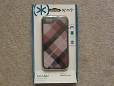 ☀️ $35 NEW SPECK FabShell MegaPlaid Mulberry Black Case iPhone 5 5S SPK-A0762
