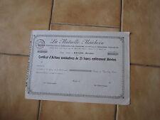 la mutuelle Maichoise siege sociale à Maiche (doubs) certificat d'action de 25 f