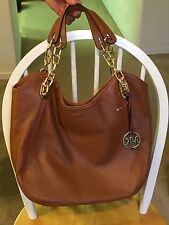 Michael Kors Lily Large Leather Shoulder Tote *Walnut