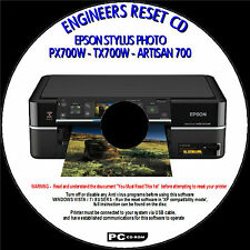 EPSONSTYLUS PX700W PRINTER WASTE INK PAD COUNTER ERROR FIX ENGINEERS PC CD NEW