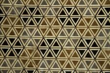 "55"" Black & Taupe Hexagon Chenille  UPHOLSTERY SALE FABRIC-- 10 Yards"