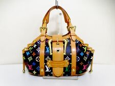 Authentic LOUIS VUITTON Monogram Multicolore Theda GM M92345 Noir Handbag FL0064