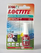 Loctite 2700 OEM Specified High Strength Thread lock & Sealant 5ml Stud/Nutlock