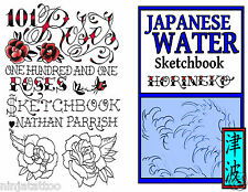 200+ Roses & Water TATTOO Designs 2 BOOKS Flowers ART LOT Flash Sketch design
