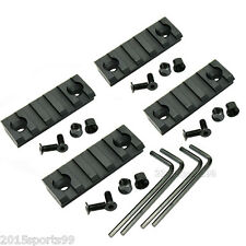 4Pcs Keymod 5 Slot Picatinny/Weaver Rail 2 inch For Handguard Rail Aluminum 2""