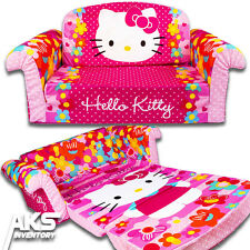 Hello Kitty Flip Open Sofa Convertable Couch Lounger Toddler Children Kids New