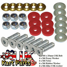 KART Complete Floor Tray Fixing Kit Gold & Red Top Quality & Value