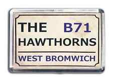 West Brom Football Fridge Magnet Print Stadium Street Sign Design Hawthornes