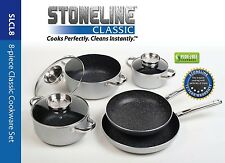 Stoneline Nonstick Stone Cookware - Classic 8-Piece Set, Free Shipping, New