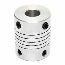 Argento Accoppiatore Stepper Motor CNC Shaft Coupler Flessibile Albero 6.35x8mm