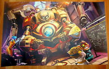 Poster A3 League Of Legends Blitzcrank Vi Ziggs Heimerginder LOL