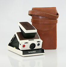 POLAROID SX-70 Land Camera Model 2 in Ivory White with Leather Case (BZ75)