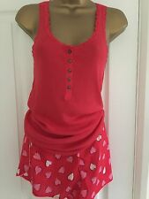 Victoria's Secret Pyjama Shorts Set Size Large Red Love Hearts