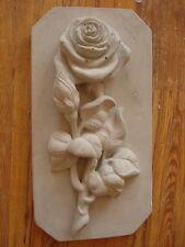 Fassaden -Schmuckelement 101-240B Motivplatte - Rose aus Beton für Aussenfassade