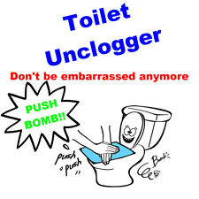 [Push-Bomb Toilet bowl unclogger] Breaching clogged toilet without tools 3sheets