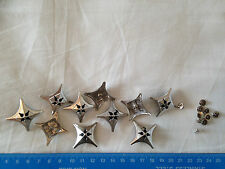 Leather Studs Star/Pyramid Design Chrome Effect Rivet Back (Pack Of TEN Studs).