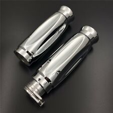 "Chrome 1"" 25mm Handlebar Grips For Harley XL Sportster 883 1200/Honda Shadow 750"