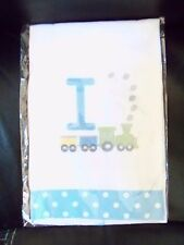 Personalized Initial Burp Cloth Diaper Letter I With A Train NEW LAST ONE