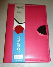 C.R.GIBSON PINK LEATHERETTE CHROME BUCKLE CLOSURE DELUXE SOFT JOURNAL