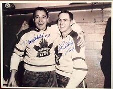 FRANK MAHOVLICH AND RED KELLY HOF AUTOGRAPHED 8x10 B&W PHOTO LEAFS SIGNED COA