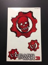 Xbox 360 Gears of War 3 Game Stickers Decals  **New**