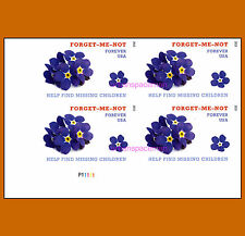 4987a Missing Children Imperf Plate Block of 4 LL fr Press Sheet No Die Cuts