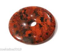 Bijou pierre de soins pendentif donuts jaspe bréchique 3 cm pendant