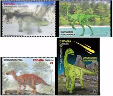 Dinosaurs set of 4 mnh stamps Special Effects 2016 Spain 3-D holographic thermo-