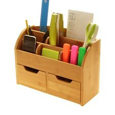 Bamboo Desk Stationery Organiser (or Wall Mounted)