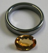 LOOSE YELLOW CITRINE NATURAL GEM 8X11MM OVAL CUT FACETED 2CT GEMSTONE CI43A