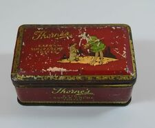 Vintage Thorne's Extra Super Creme Toffee Tin Red Early Version
