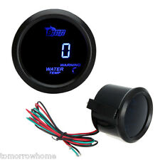 52mm Digital Blue LED Water Temperature Celsius Meter Gauge + Sensor Car Black