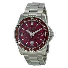 Victorinox Maverick GS Red Dial Stainless Steel Mens Watch 241604