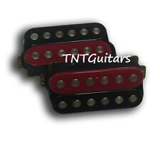Dragonfire PHAT SCREAMERS Humbucker Pickup SET (1Bridge & 1Neck) Red-Black ZEBRA