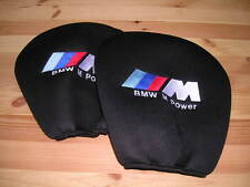 BMW M POWER HEAD REST COVERS M1 M3 M5 M7 X3 X5 X6 E30 E36 E46 Z3 Z4 SPORT XM5