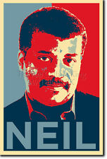 NEIL DEGRASSE TYSON ART PHOTO PRINT 4 POSTER GIFT (OBAMA HOPE PARODY) COSMOS