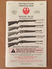 New Ruger Firearms 10/22 Autoloading Rifle Owners/Instruction Manual, NRA